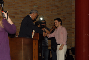 First medal and  first award (Prometheus Pyrforos) from Dean J. Golias. (June 3, 2010)